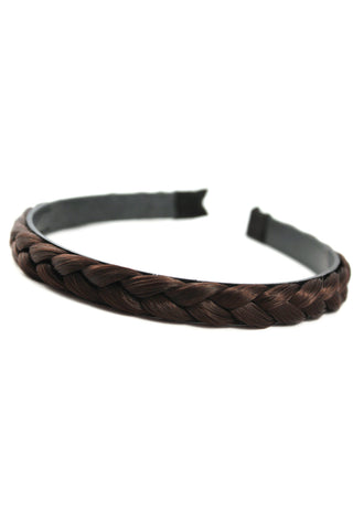 Braided Headband: Dark Brown - Celebrity Strands  - 2
