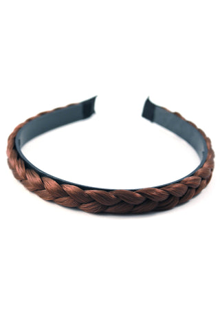 Braided Headband: Light Brown - Celebrity Strands  - 2