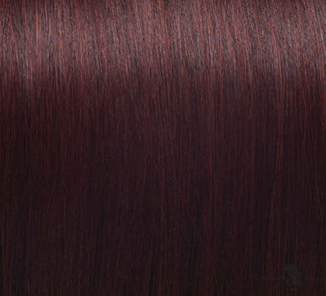 "21"" Clip In Remy Hair Extensions: Red No. 99 - Celebrity Strands  - 1"