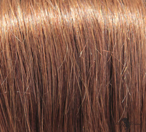 "16"" Clip In Remy Hair Extensions: Chestnut Brown No. 6 - Celebrity Strands  - 1"