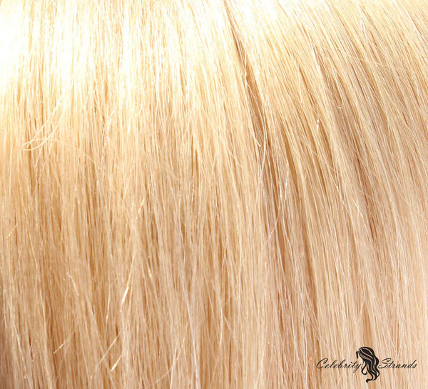 "18"" Clip In Remy Hair Extensions: Golden Blonde No. 24 - Celebrity Strands  - 1"