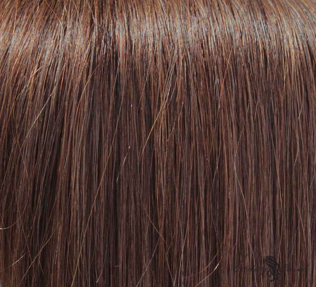 "16"" Clip In Remy Hair Extensions: Medium Brown No. 4 - Celebrity Strands  - 1"
