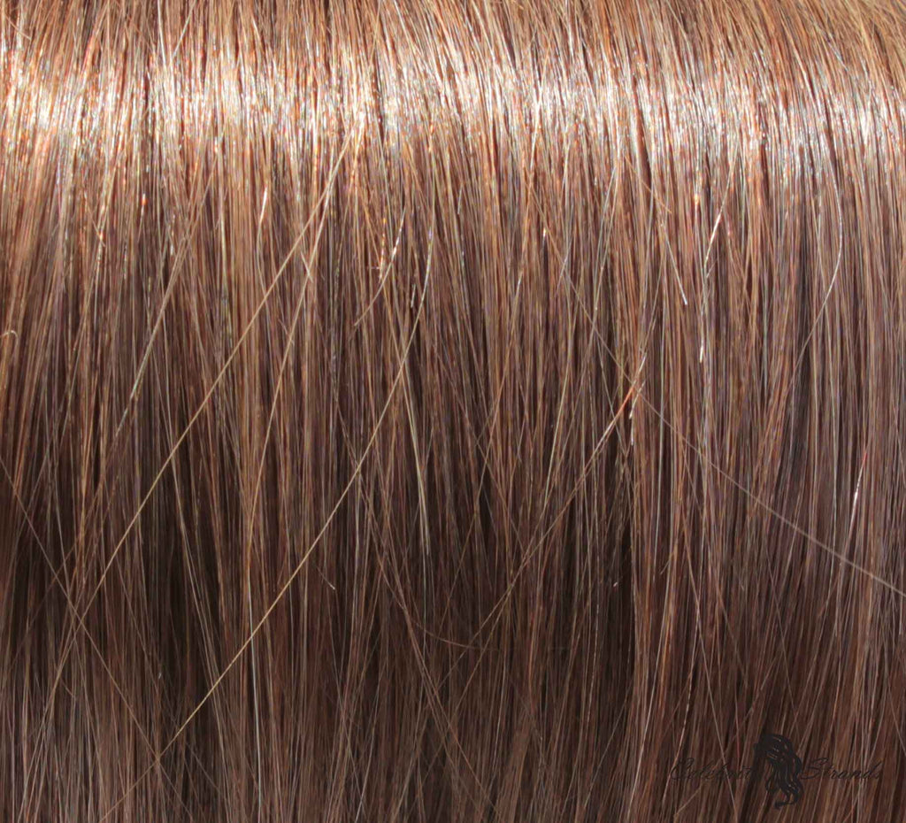 "18"" Clip On Human Hair Extensions: Light Ash Brown No. 5 - Celebrity Strands  - 1"