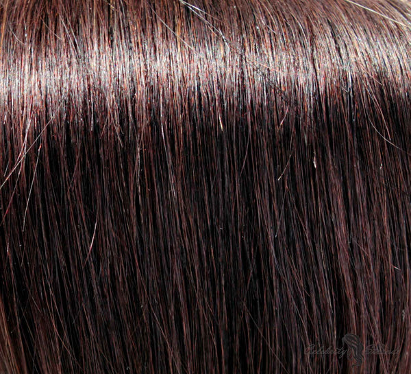 "24"" Clip In Remy Hair Extensions: Darkest Brown No. 2 - Celebrity Strands  - 1"