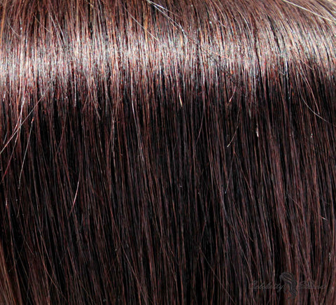 "21"" Clip In Remy Hair Extensions: Darkest Brown No. 2 - Celebrity Strands  - 1"