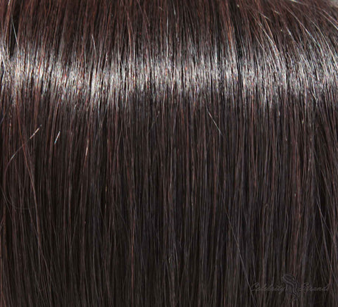 "21"" Clip In Remy Hair Extensions: Off Black No. 1B - Celebrity Strands  - 1"