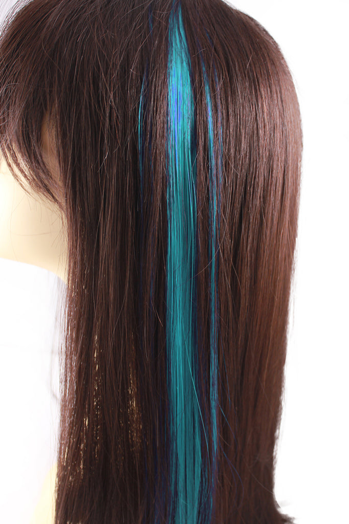 Single Clip Hair Extension: Aqua