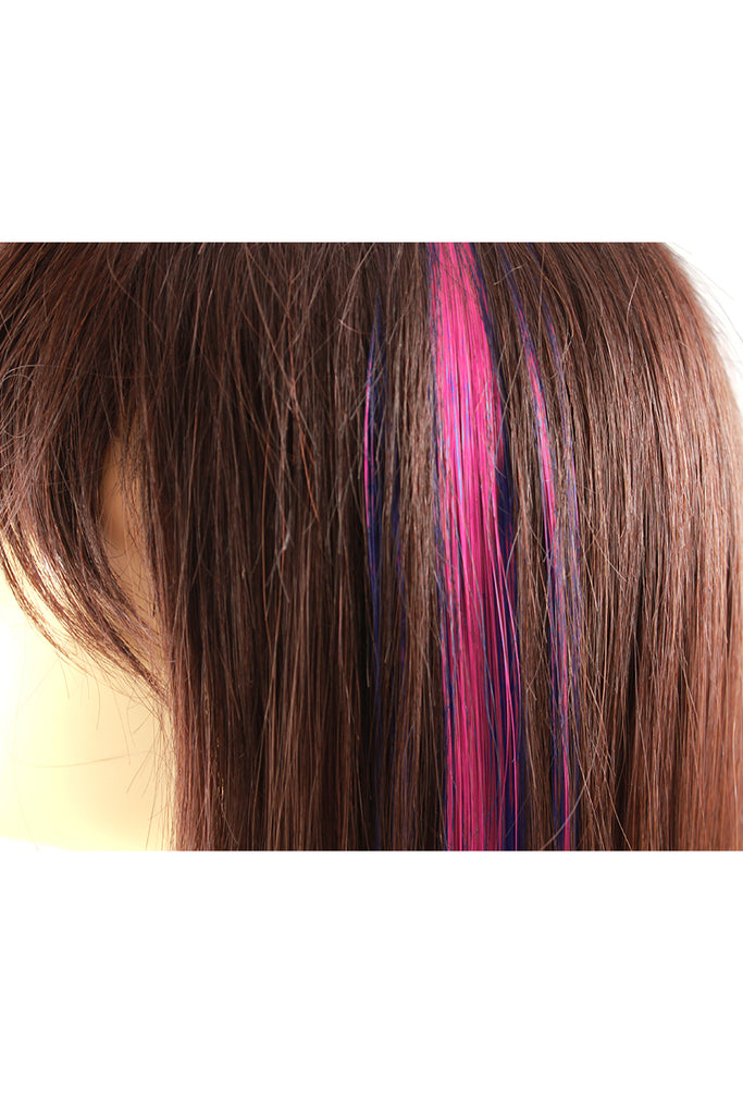 Single Clip Hair Extension Pink Celebrity Strands