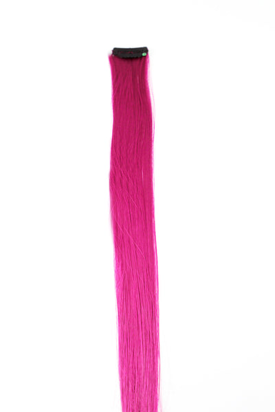 Single Clip Hair Extension: Pink