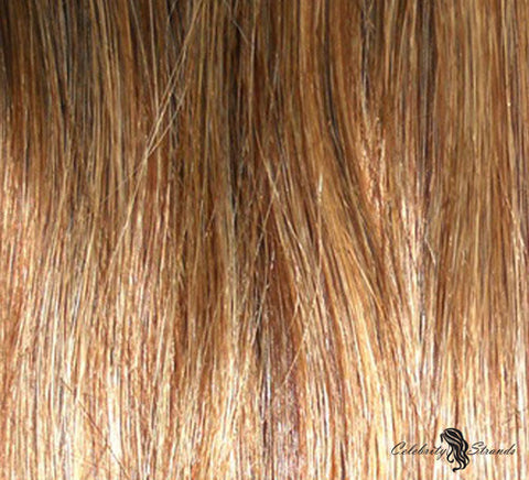 "21"" Clip In Remy Hair Extensions: Chestnut Brown/ Blonde No. P6-27 - Celebrity Strands  - 1"