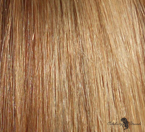 "16"" Clip In Remy Hair Extensions: Light Brown and Golden Blonde P8/24 - Celebrity Strands  - 1"