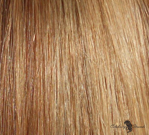 "21"" Clip In Remy Hair Extensions: Light Brown/ Golden Blonde No. P8-24 - Celebrity Strands  - 1"
