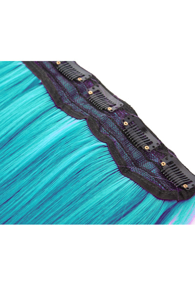 Exotic Flare- Aqua Curly - Celebrity Strands  - 5