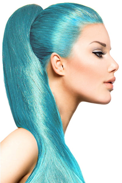 Exotic Flare- Aqua Curly - Celebrity Strands  - 1