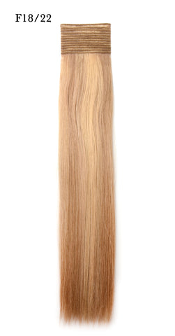 Weft Human Hair Extensions: Color #F18/22