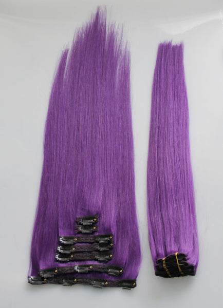 "Royal Purple:  21"" Clip In Hair Extensions - Celebrity Strands  - 2"