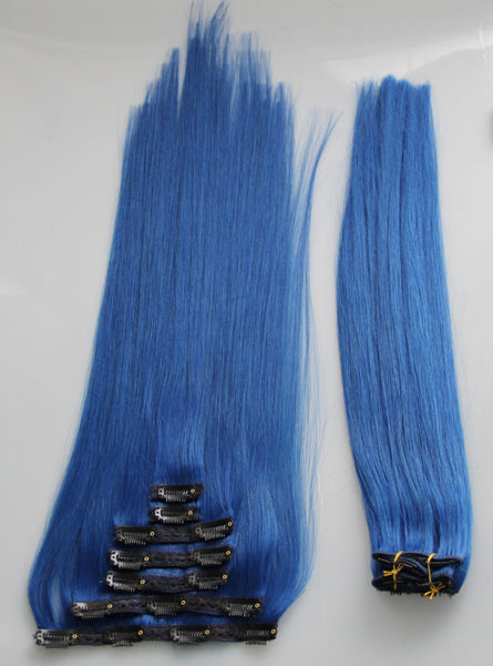 "Alluring Blue:  21"" Clip In Hair Extensions - Celebrity Strands  - 2"