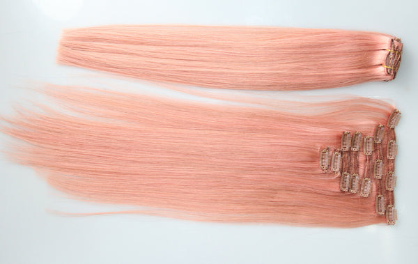 "Pretty Pink:  21"" Clip In Hair Extensions - Celebrity Strands  - 2"