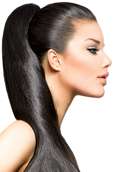 "18"" Clip In Hair Extensions: No 1B Off Black - Celebrity Strands  - 1"