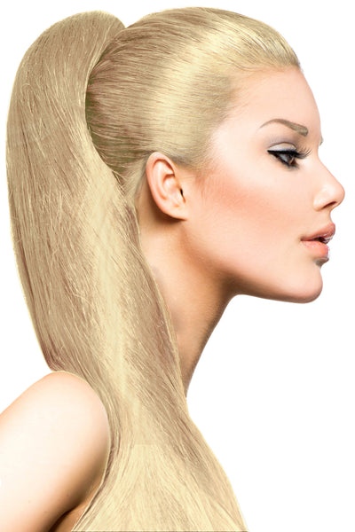 "16"" Clip In Hair Extensions: No 613 Monroe Blonde - Celebrity Strands  - 1"