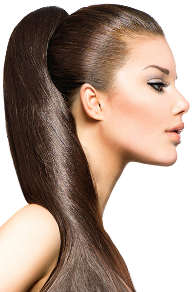"21"" Clip In Hair Extensions: No 6 Chestnut Brown - Celebrity Strands  - 1"