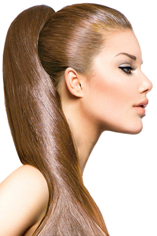 "18"" Clip In Hair Extensions: No 8 Dirty Blonde - Celebrity Strands  - 1"