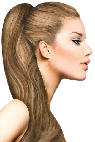 "18"" Clip In Hair Extensions: No. P6-27 Chestnut Brown/ Blonde - Celebrity Strands  - 1"