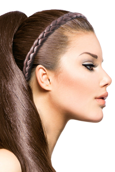 Braided Headband: Light Brown - Celebrity Strands  - 1