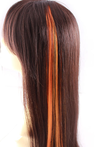 Single Clip Hair Extension: Orange - Celebrity Strands  - 1