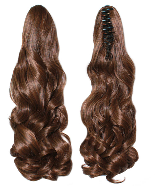 PonyTail Extensions: No M2-30 Dark Brown and Auburn Mix