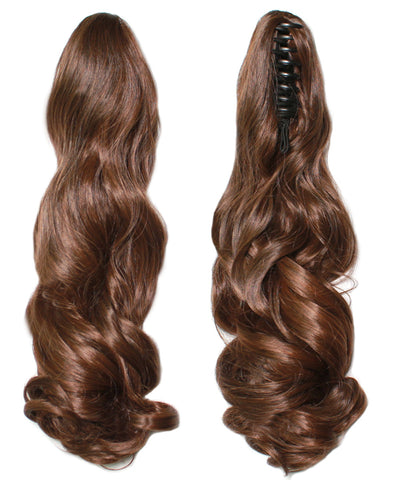 PonyTail Extensions: No M4-30 Medium Brown and Auburn Mix