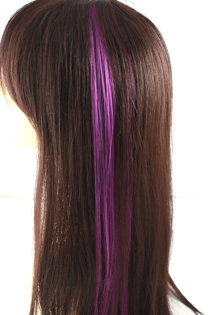 Single Clip Hair Extension: Purple - Celebrity Strands  - 1
