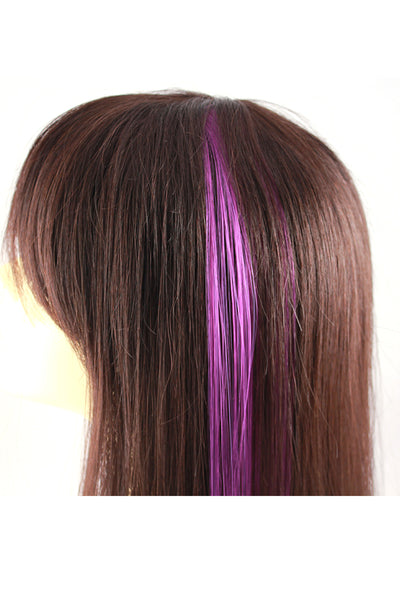 Single Clip Hair Extension: Purple - Celebrity Strands  - 3