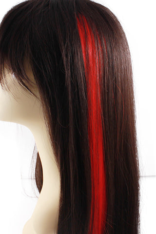 Single Clip Hair Extension: Red - Celebrity Strands  - 1