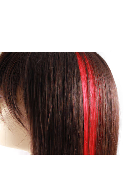 Single Clip Hair Extension: Red - Celebrity Strands  - 3