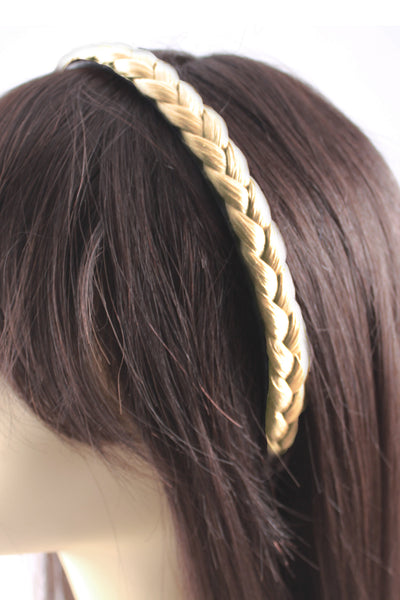 Braided Headband: Platinum Blonde - Celebrity Strands  - 3