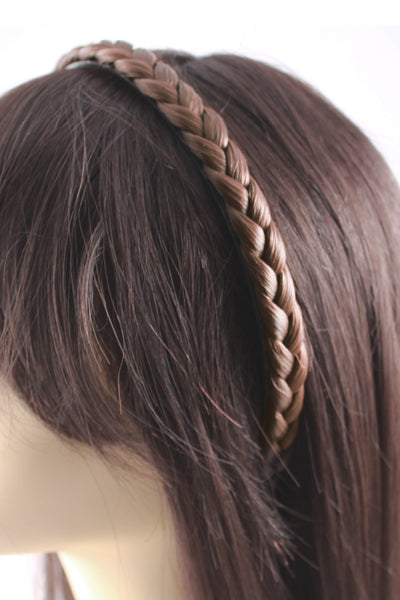 Braided Headband: Dark Blonde - Celebrity Strands  - 3