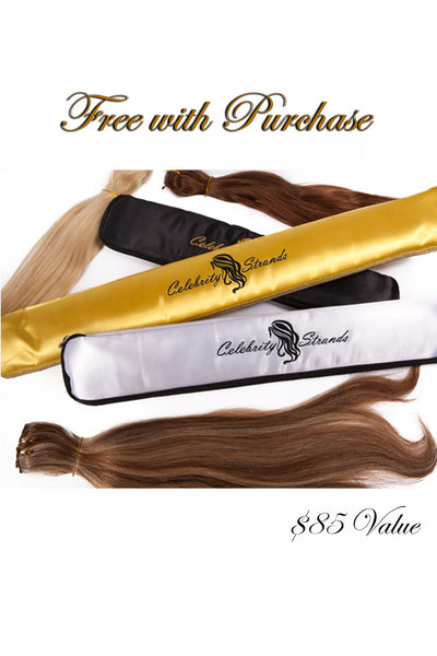 "18"" Clip In Hair Extensions: No 1B Off Black - Celebrity Strands  - 4"