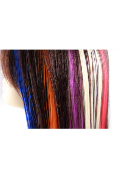 Single Clip Hair Extension: Blue - Celebrity Strands  - 4