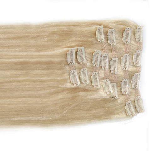 "Spotlight Platinum:  21"" Clip In Hair Extensions - Celebrity Strands  - 1"