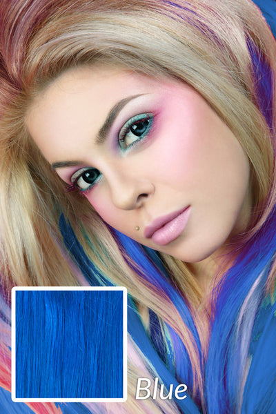 "Alluring Blue:  21"" Clip In Hair Extensions - Celebrity Strands  - 4"