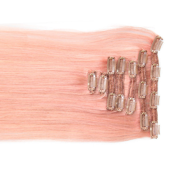"Pretty Pink:  21"" Clip In Hair Extensions - Celebrity Strands  - 1"