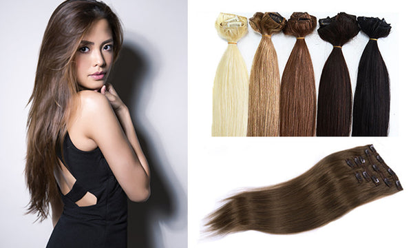 "Premium RankOne Clip On Extensions 16-18"" - Celebrity Strands  - 1"