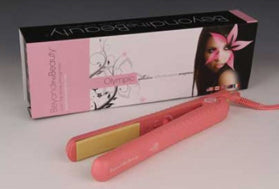 "Pink- Ceramic Plate Hair Straightener 1-1/2"" - Celebrity Strands  - 1"