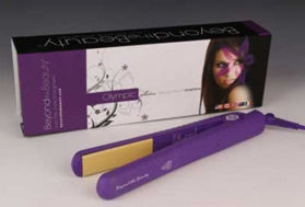 "Purple- Ceramic Plate Hair Straightener 1-1/2"" - Celebrity Strands  - 1"