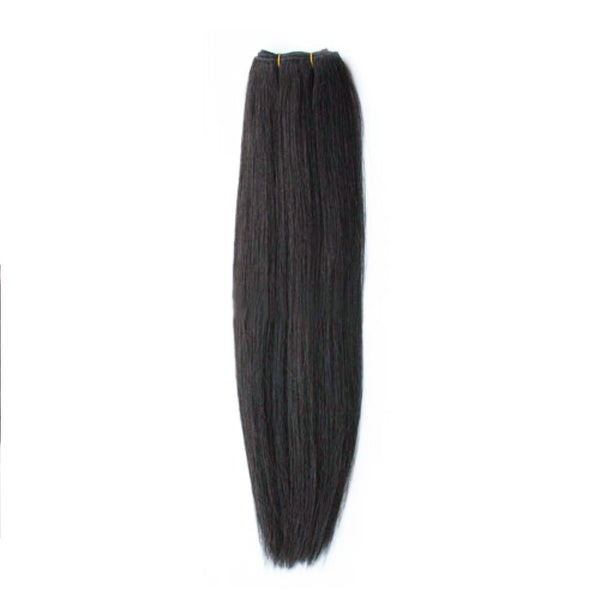 "21"" Clip In Remy Hair Extensions: Off Black No. 1B - Celebrity Strands  - 7"
