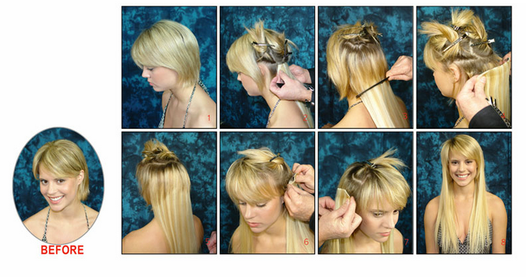 Applying Clip In Hair Extension