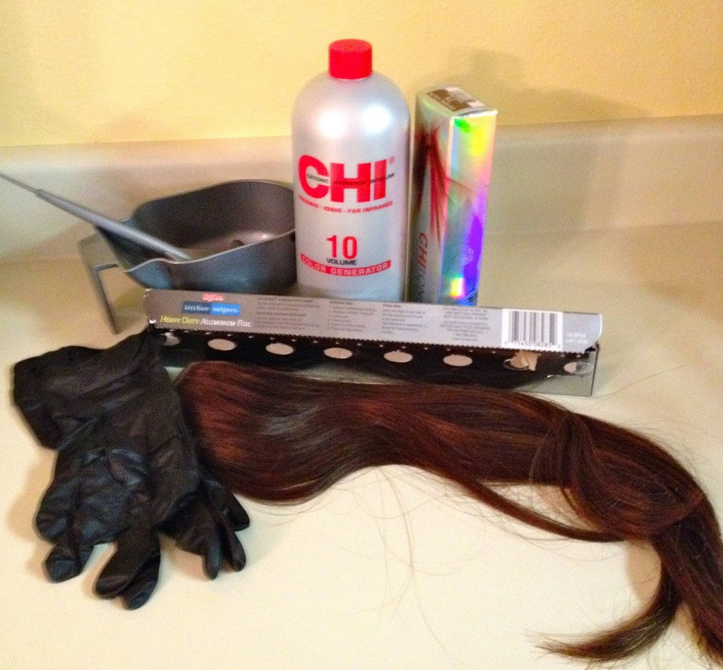 Dying Hair Extensions