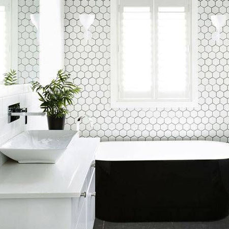 Timeless black and white bathroom design ideas