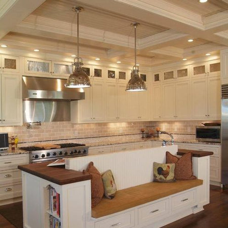 Inspiring Kitchen Islands Ideas with Industrial Pendant Lighting